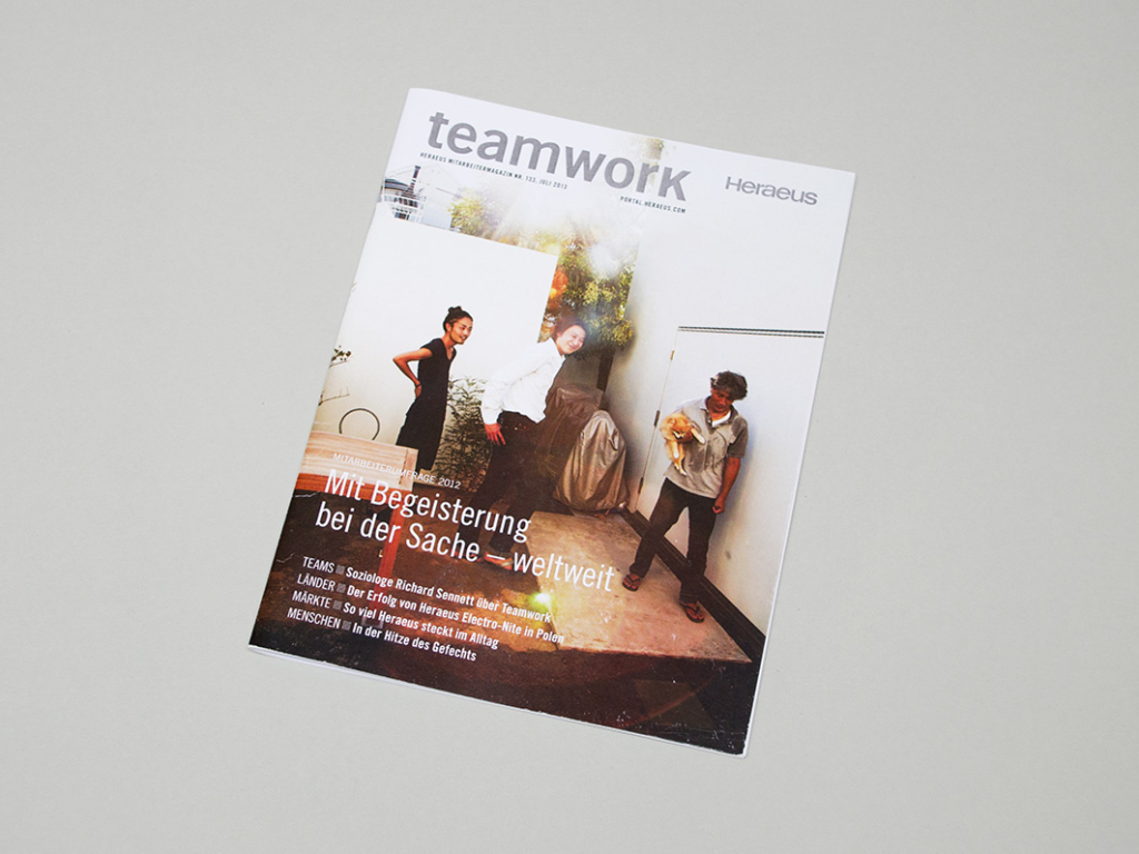 very serious design, corporate design, editorial design made in Hamburg heraeus teamwork